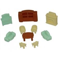 Набор мебели для кукол №3, 10 элементов