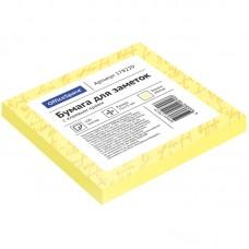 Самоклеящийся блок 75*75мм 100л OfficeSpace, желтый