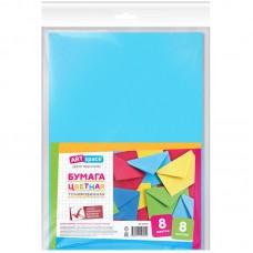 Цветная бумага A4 8л., 8цв., тонированная, в пакете