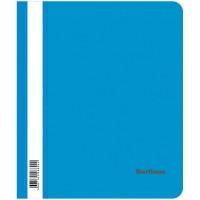 Папка-скоросшиватель пластик А5 Berlingo, 180мкм, синяя с прозр. верхом