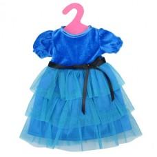 Одежда для кукол: платье (синий цвет) Gcm18-11, 25,5x36x1см