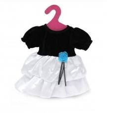 Одежда для кукол: платье (черно-белое), 25,5x36x1см
