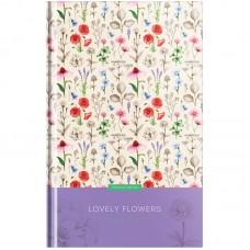 Блокнот А5 80л Цветы. Lovely flowers, глянцевая ламинация
