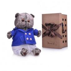 Мягкая игрушка Кот Басик в синем кителе 22 см