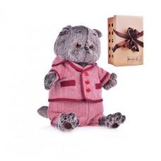 Мягкая игрушка Кот Басик в красном пиджаке и брюках в ёлочку 22 см