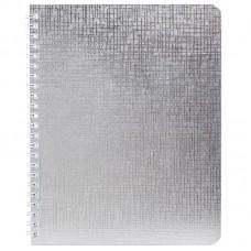 Тетрадь 48л клетка на гребне Metallic. Серебро, бумвинил