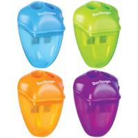 Точилка пластиковая Berlingo Spike XL, 2 отверстия, контейнер, цвет ассорти