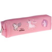 Пенал мягкий 200*50*40 ArtSpace Pink unicorns, мягкий силикон