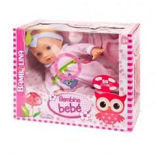 Кукла-пупс Bambina Bebe 42 см, тм Dimian, с аксессуарами для кормления, звуковые эффекты