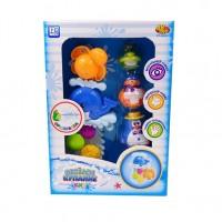 Игрушки для ванной Веселое купание, в наборе с аксессуарами (5 предметов)