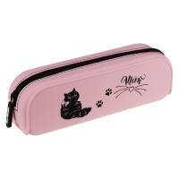 Пенал мягкий 200*60*50 Berlingo Kitty meow, силикон