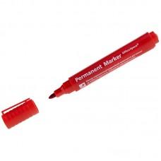 Маркер перманентный (красный) OfficeSpace 8004, пулевидный, 2мм