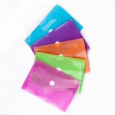 Папка-конверт на кнопке А7 180мкр, рифленая (11,5*8 см)