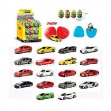 Машина металлическая в яйце, 9 моделей в ассортименте