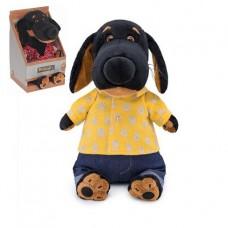 Мягкая игрушка Basik&Co (Vakson) Ваксон в джинсах и желтой рубашке, 29 см