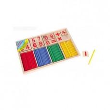 Набор для счёта деревянный Считаем вместе со счётными палочками