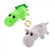 Мягкая игрушка Перевертыши. Бегемот/Динозавр, 16 см