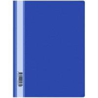 Папка-скоросшиватель пластик А4 OfficeSpace 160мкм, синяя с прозр. верхом