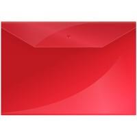 Папка-конверт на кнопке А4 OfficeSpace, 150мкм, красная