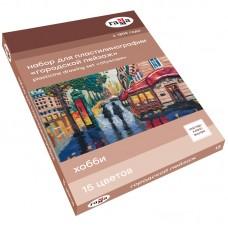 Набор для пластилинографии Гамма Хобби. Городской пейзаж, 15 цветов, 390г, мастер-класс, стек
