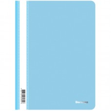 Папка-скоросшиватель пластик. Berlingo, А4, 180мкм, голубая с прозр. верхом