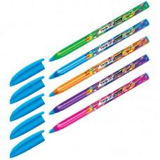 Ручка шарик. синяя 0,7мм Berlingo Triangle 100T Elements, трехгран., игольчатый стержень