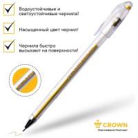 Ручка гелевая золото металлик 0,7мм Crown Hi-Jell Metallic