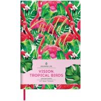 Записная книжка А5 80л, кожзам, Greenwich Line Vision.Tropicalbirds, тон. блок, цв. срез