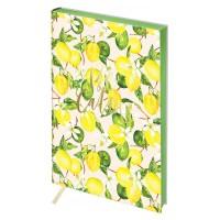 Записная книжка А5 80л, кожзам, Greenwich Line Vision. Lemon, тон. блок, цв. срез