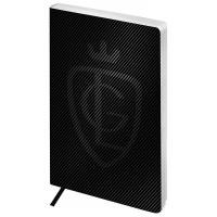 Записная книжка А5 80л, кожзам, Greenwich Line Royal book, черный, серебр. cрез