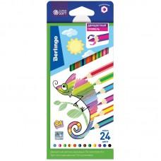 Цветные карандаши 12 шт. 24 цв. с двухцветным грифелем Berlingo SuperSoft 2 in 1