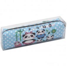 Пенал мягкий 200*55*40 Cute panda, искусственная кожа