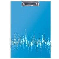 Планшет с зажимом Berlingo Neon А4, ламинированный, неоновый голубой