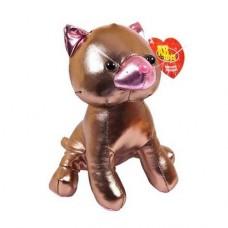 Мягкая игрушка Металлик Кошка коричневая, 18 см