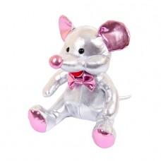 Мягкая игрушка Металлик Мышка серебряная, 18 см