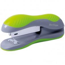 Степлер №24/6, 26/6 Berlingo Office Soft до 25л., пластиковый корпус, зеленый