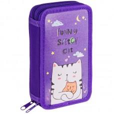 Пенал 2 отделения 190*110 Dream cat, ламинированный картон