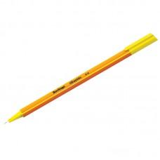 Ручка капиллярная Berlingo Rapido желтая, 0,4мм, трехгранная