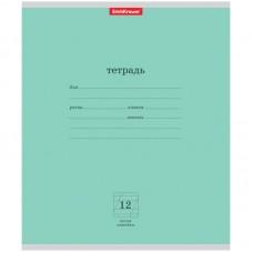 Тетрадь 12 л (линия косая) Erich Krause Классика (зеленый)