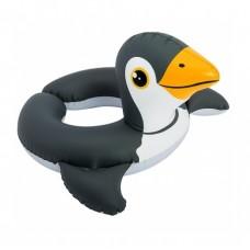 Надувной круг Intex Пингвин, 64*64 см, разъемные концы, 3-6 лет