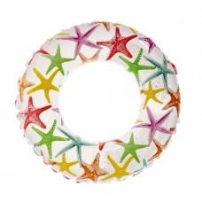 Надувной круг Intex Цветной с морскими звездами, 61 см