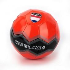 Мяч футбольный лакированный, размер 5, материал ПВХ, 1 слой, 270г, СБОРНАЯ НИДЕРЛАНДОВ