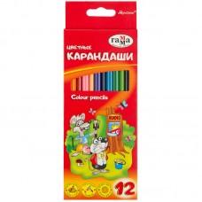 Цветные карандаши 12 цв. Гамма Мультики, трехгранные, заточен.