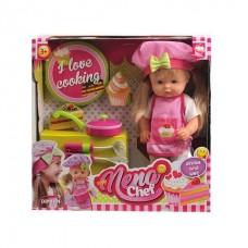 Кукла NENA 36 см, тм Dimian, шеф-повар