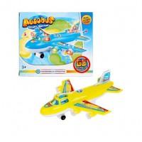 Самолет на бат. свет+звук WH-3043 в кор.