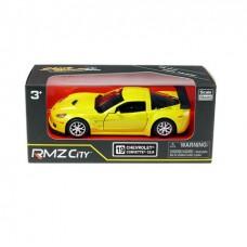 Машина металлическая RMZ City 1:32 Chevrolet Corvette C6-R, инерционная, цвет желтый металлик
