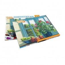 Набор для живописи масляными красками Цветы на окне