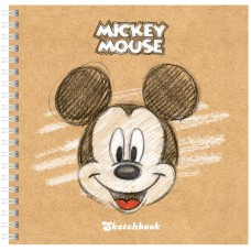 Скетчбук-тетрадь 80л 170*170мм на гребне Hatber Disney. Микки Маус, 120г/м2, с тверд. обложкой