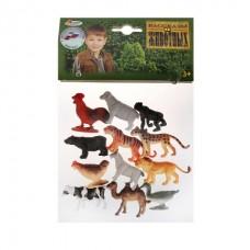 Набор из 12 животных ИГРАЕМ ВМЕСТЕ (6 диких + 6 домашних) 5-6см, в пак.