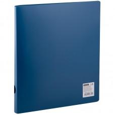 Папка на 2 кольцах OfficeSpace, 40мм, 500мкм, синяя